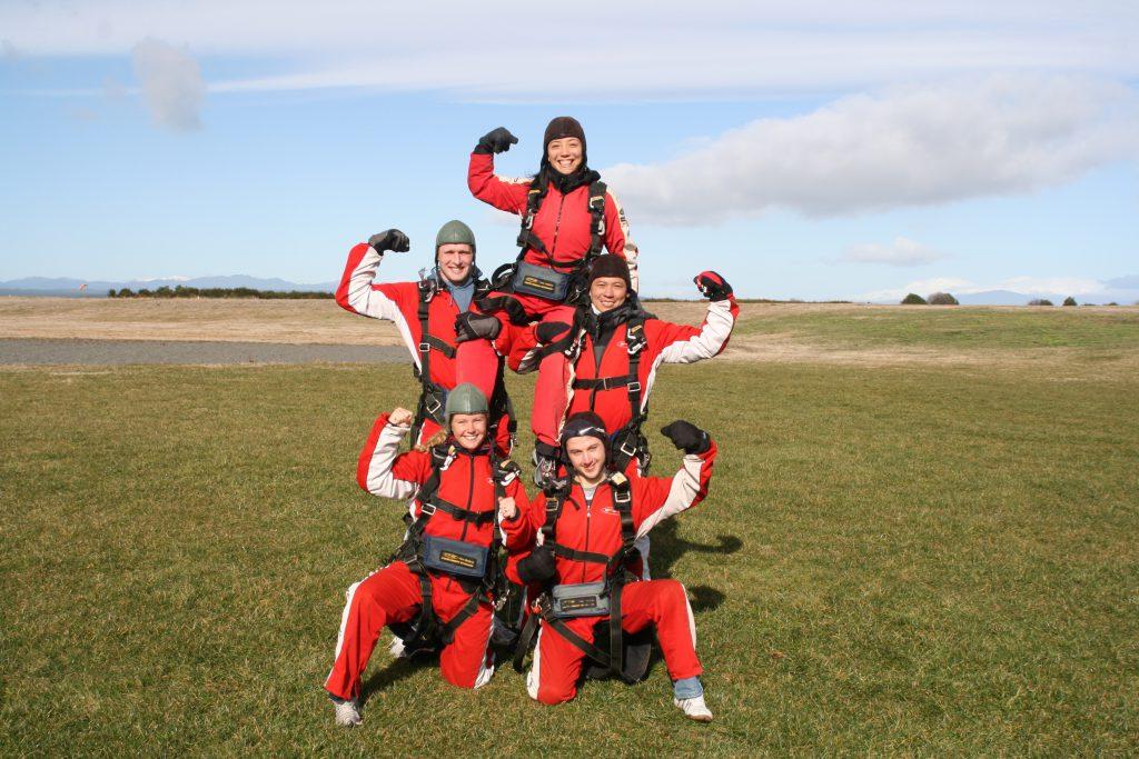 Human Pyramid | Taupo Tandem Skydiving
